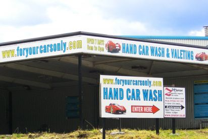 Signage for a Local Car Wash