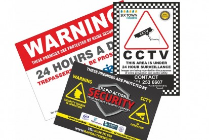 Security Boards, Warning and CCTV Signs