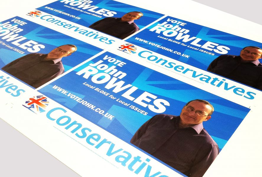 Election campaign board printing