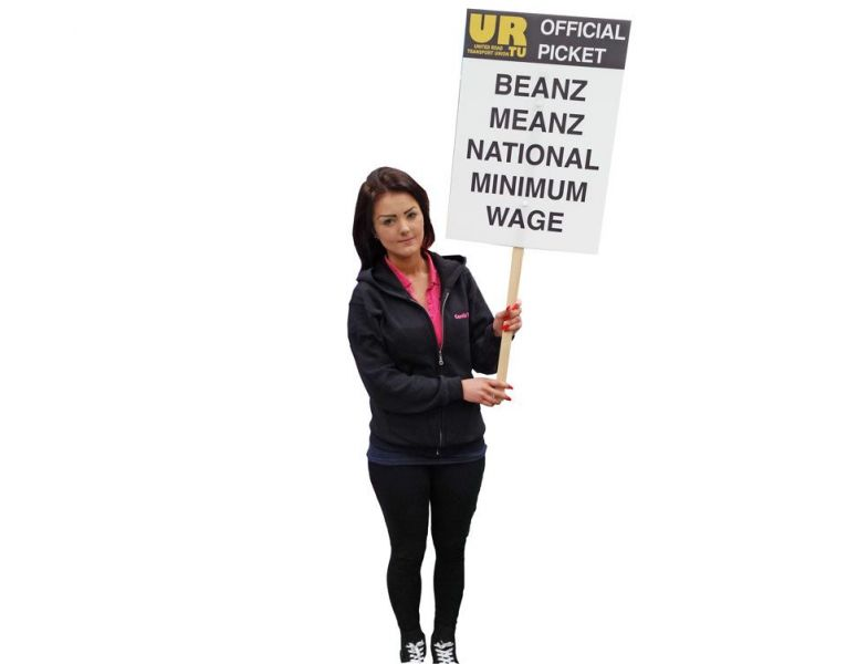 Picketing Placard printing fit with a Short Stick