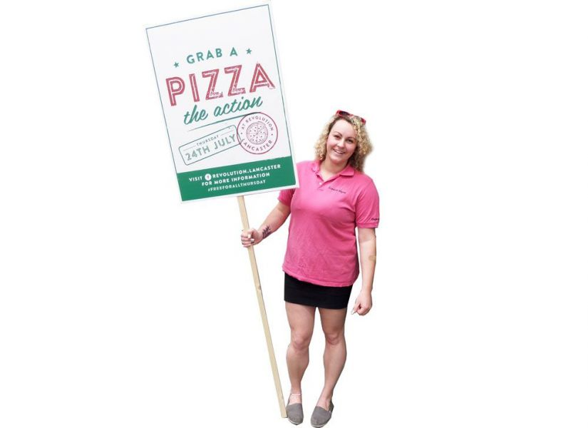 Restaurant Pizza Menu Placard