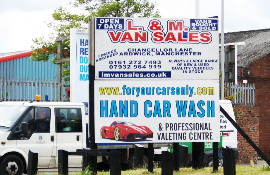 Large Outdoor Car Wash Sign