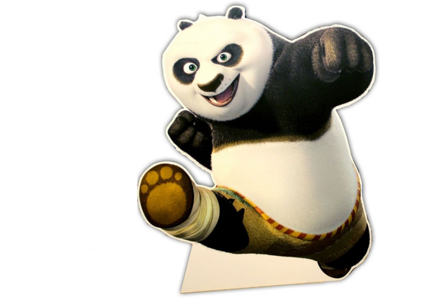 Cutout for Kung-Fu Panda