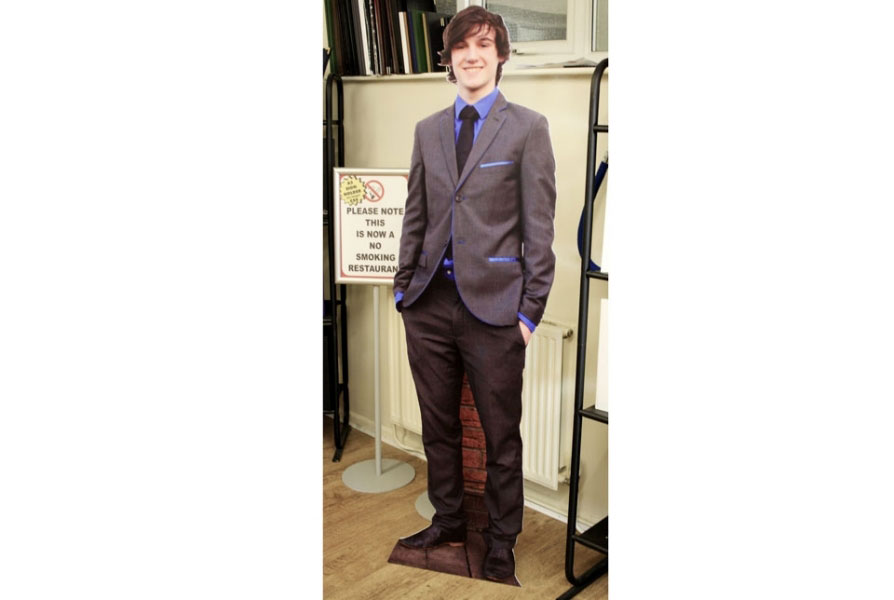 Cutout of Male Model