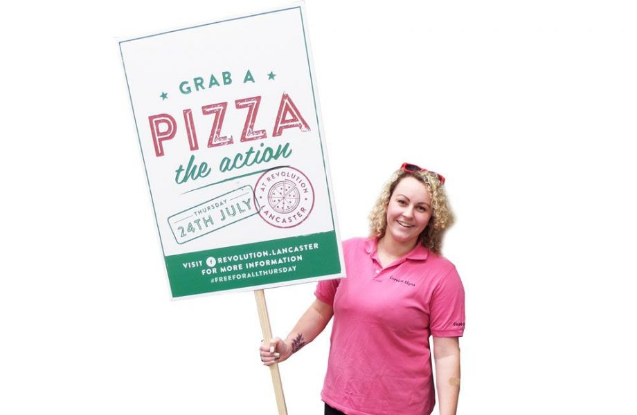 Pizza placard signs for restaurants
